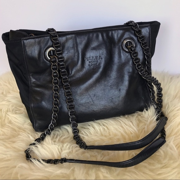 180ebf03a331 PRADA Nappa Leather Chain Strap Tote Shoulder Bag.  M_5b43abf12beb7939d0283607
